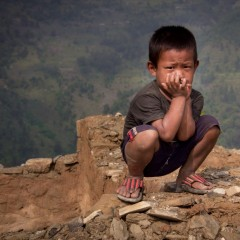 Aid for Nepalese children after the earthquake